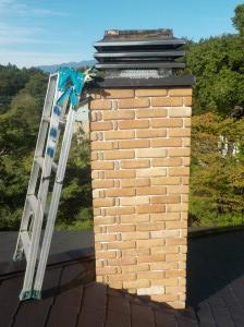 薪ストーブの煙突掃除