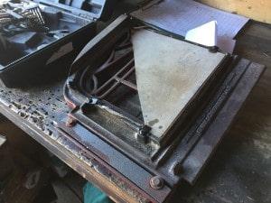 薪ストーブのガラス割れ