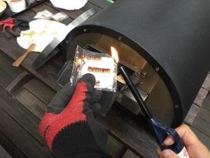 ピザ窯kabutoの使い方