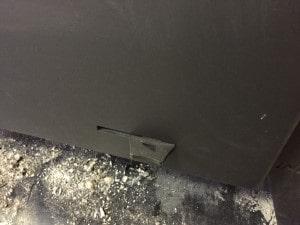 薪ストーブの空気調整レバー