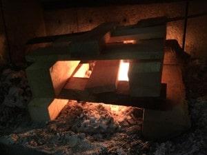 薪ストーブの焚き付け