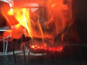 ハーマンのペレットストーブの炎