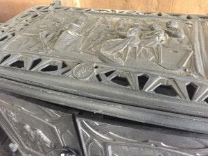 鋳物製薪ストーブの模様
