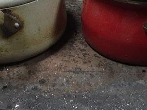 薪ストーブの錆び