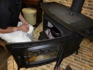 ハーマン薪ストーブで鍋料理