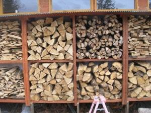 薪ストーブの薪作り