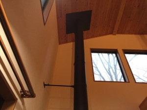 薪ストーブのDIY煙突設置