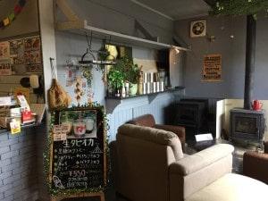那須高原の薪ストーブカフェ