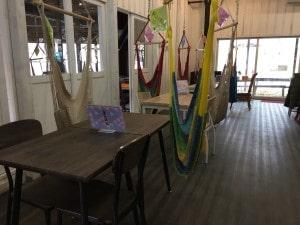 栃木県那須町のハンモックカフェ