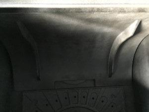 薪ストーブのバッフルプレート