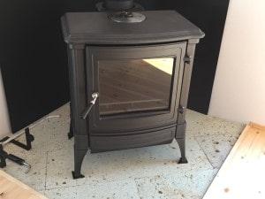 薪ストーブの炉台・炉壁設置