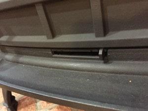 薪ストーブの一次燃焼空気調整レバー