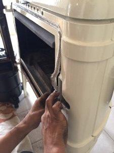 薪ストーブガスケットの修理