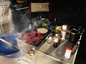 BBQで焼肉