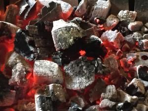 炭の焼き加減